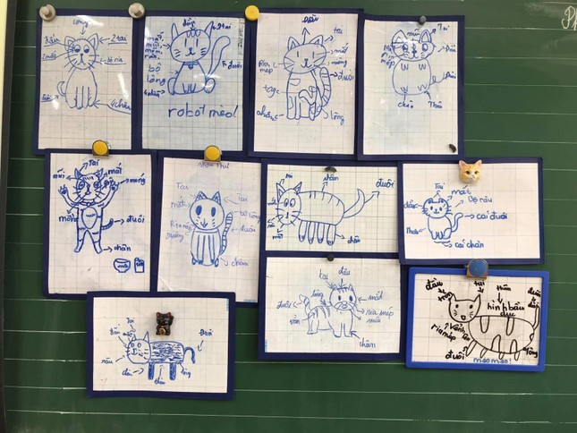 Tiết học tập làm văn siêu 'cute' của cô trò lớp 4 ảnh 1