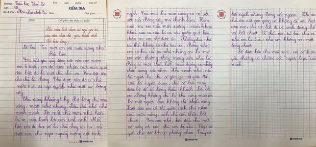 Tiết học tập làm văn siêu 'cute' của cô trò lớp 4 ảnh 5
