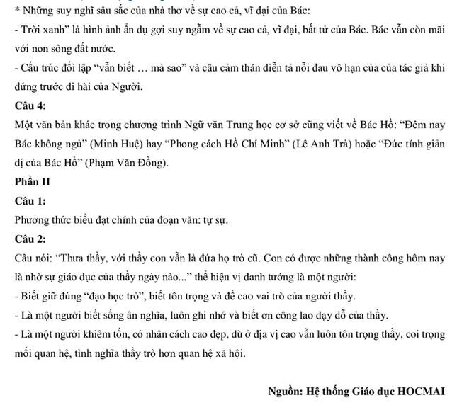 Nhận xét, gợi ý giải đề ngữ văn thi lớp 10 ở Hà Nội ảnh 3