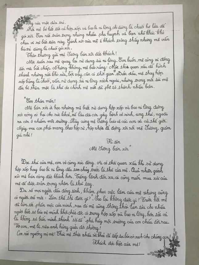 Kêu gọi không dùng hộp xốp đựng xôi, học sinh lớp 7 giành giải nhất viết thư UPU ảnh 2