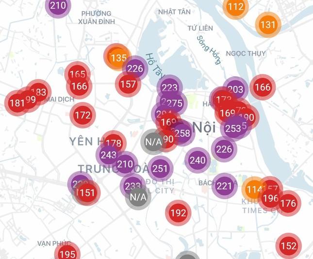 Hà Nội lại ô nhiễm không khí rất nghiêm trọng ảnh 1
