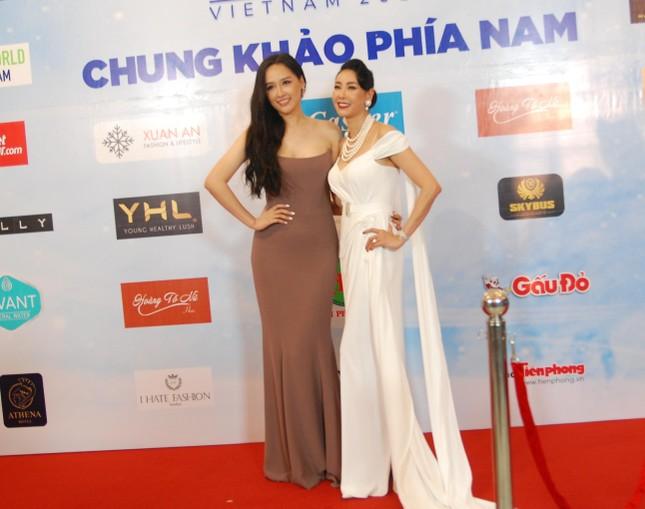 Dàn hoa hậu, á hậu khoe sắc trên thảm đỏ chung khảo Miss World Việt Nam ảnh 1
