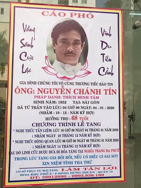 Sáng mai, NSƯT Nguyễn Chánh Tín về nơi an nghỉ cuối cùng ảnh 1
