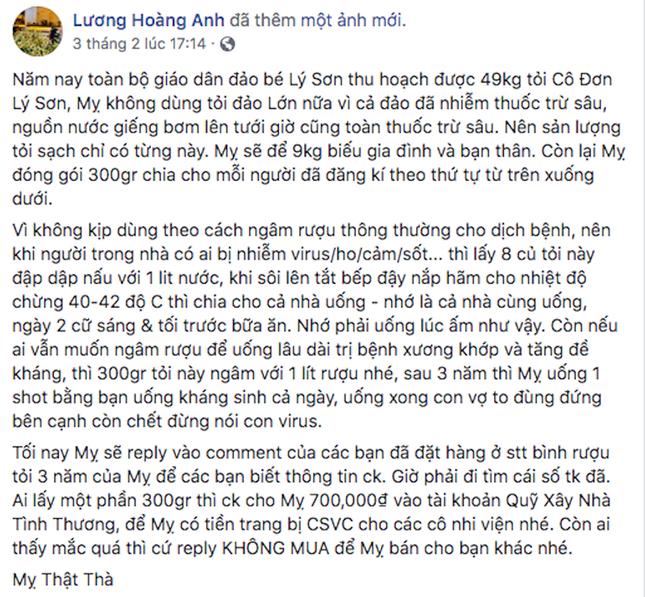 Bà Lương Hoàng Anh phải làm việc trực tiếp với Sở TT&TT vụ tỏi Lý Sơn ảnh 1