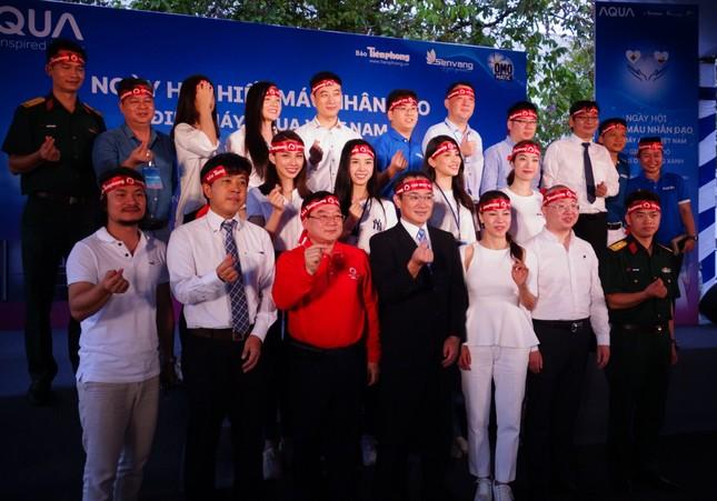 Các Hoa hậu - Á hậu cùng tham gia ngày hội Hiến máu nhân đạo tại Đồng Nai ảnh 4
