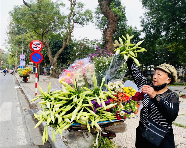 Phố phường Hà Nội lãng mạn với sắc trắng hoa Loa kèn ảnh 10