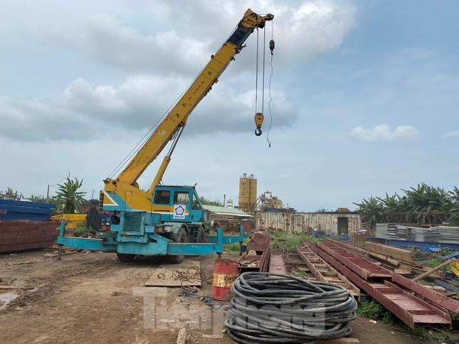 Toàn cảnh công trường xây dựng cầu vượt sông gần 2.000 tỷ đồng ở Bắc Ninh ảnh 7