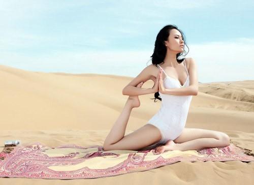 Những HLV yoga đẹp và dẻo dai nhất châu Á người Trung Quốc ảnh 2