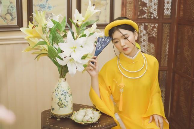 Nữ sinh thanh tao trong cổ phục Việt đón xuân ảnh 4