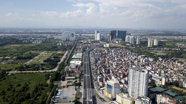 Cận cảnh đường vành đai 3 trên cao nối cầu Thăng Long - Mai Dịch sắp thông xe ảnh 1