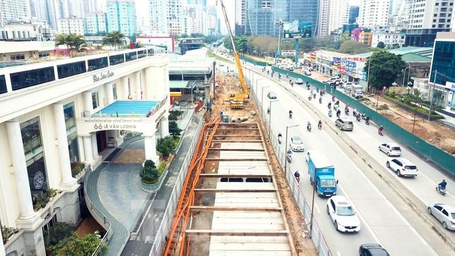 Tăng tốc thi công hầm chui đường bộ nút giao Lê Văn Lương - Khuất Duy Tiến ảnh 6