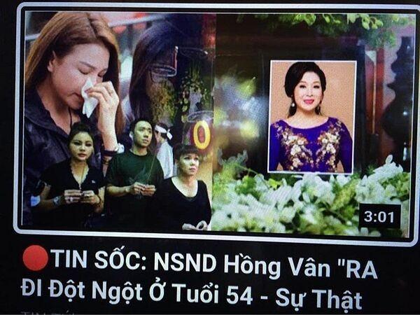Nghệ sĩ Hồng Vân không giấu được bức xúc khi bị nhiều người tung tin cô đã qua đời ảnh 2