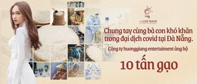 Sau ồn ào tình cảm, Hương Giang ghi điểm khi ủng hộ 10 tấn gạo cho Đà Nẵng  ảnh 2