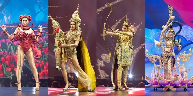 Khán giả giật mình trước trang phục dân tộc ngực trần khổng lồ ở Hoa hậu Hoàn vũ Thái Lan ảnh 8