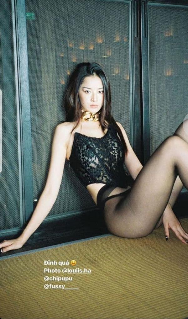 Chi Pu vừa khoe ảnh mặc quần tất không nội y, Ngọc Trinh đã diện bikini xẻ cao hết cỡ ảnh 1