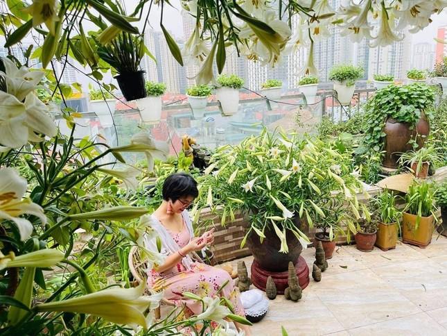 Hoa loa kèn vào mùa siêu rẻ, 'mãn nhãn' khu vườn nghìn bông của người phụ nữ Hà Nội ảnh 4