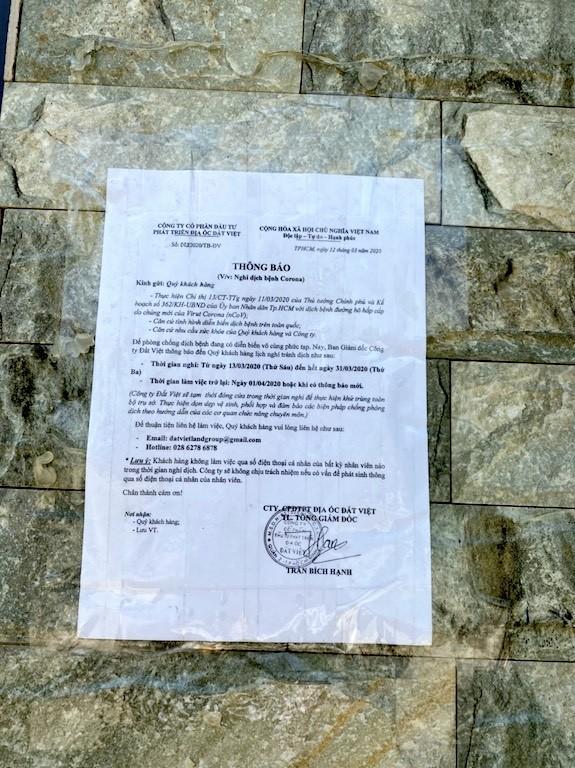 Hàng loạt sàn môi giới bất động sản đóng cửa vì dịch Covid-19 ảnh 5
