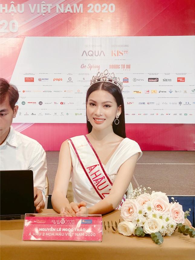 Top 3 Hoa Hậu Việt Nam 2020 lần đầu xuất hiện sau đăng quang, sẵn sàng giao lưu trực tuyến ảnh 5