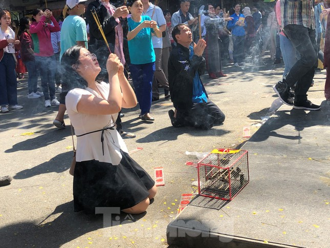 Người Sài Gòn chen chân đi lễ, đường vào chùa kẹt cứng ảnh 3
