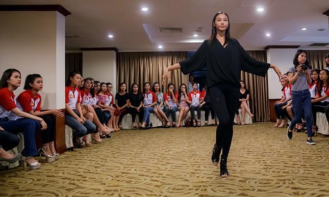 Thí sinh Hoa khôi Sinh viên Việt Nam luyện thả dáng với Á hậu Huyền My ảnh 3
