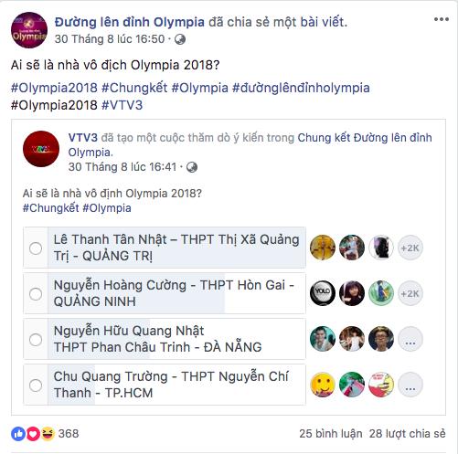 4 thí sinh tranh ngôi Vô địch Chung kết Đường lên đỉnh Olympia ảnh 6