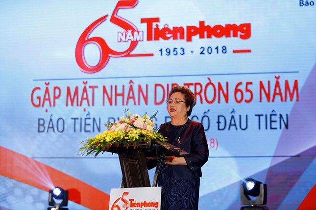 Trang trọng buổi gặp mặt kỷ niệm 65 năm báo Tiền Phong ra số đầu tiên ảnh 6