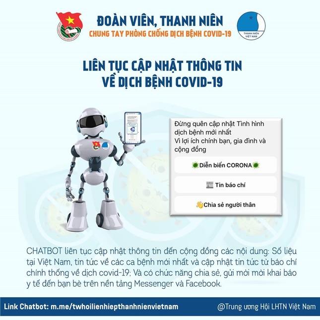 Chatbot hỗ trợ khai báo y tế, cập nhật thông tin dịch COVID-19 ảnh 2