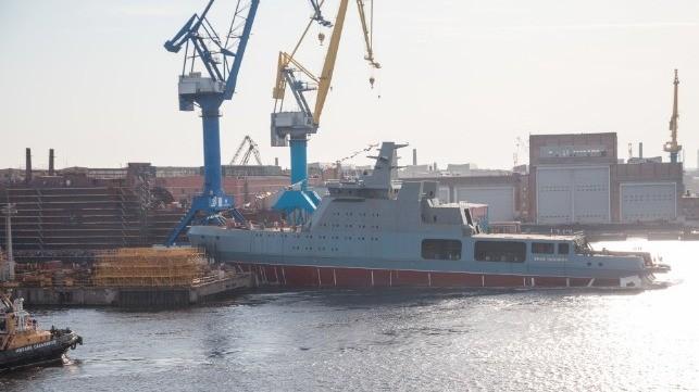 Chưa từng có: Nga hạ thủy tàu phá băng trang bị vũ khí hạng nặng ảnh 1