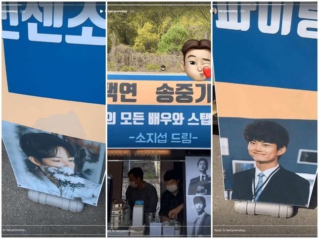 Song Joong Ki và Taek-Yeon bất ngờ với quà đặc biệt từ So Ji Sub ở phim trường 'Vincenzo' ảnh 3