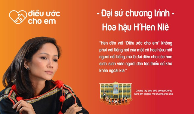 H'Hen Niê là Đại sứ chương trình 'Điều ước cho em' ảnh 1