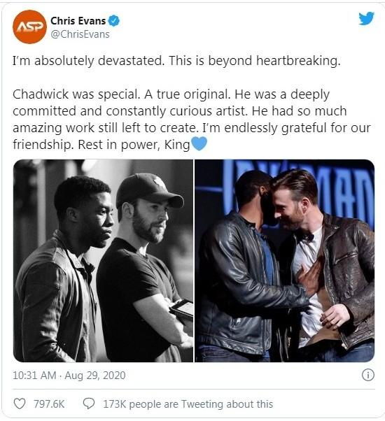 """Chadwick Boseman: Lời tưởng nhớ của các diễn viên Marvel sau cái chết """"sốc"""" của """"báo đen""""  ảnh 5"""