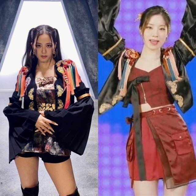"""Dahyun (TWICE) bị stylist của Black Pink """"bóc phốt"""" đạo nhái trang phục; IZ*ONE """"tặng quà"""" Valentine Trắng cho các fans ảnh 1"""