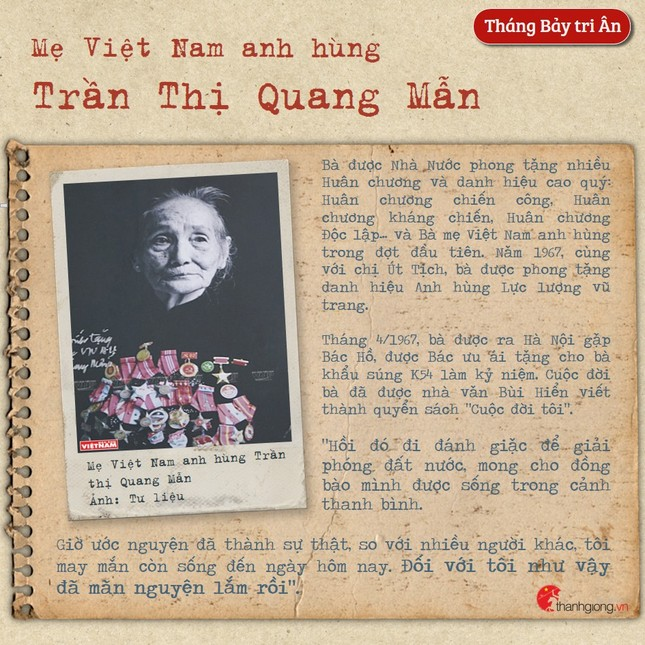 Tháng Bảy tri ân: Cô gái năm xưa giả trai đi đánh giặc nay là Mẹ Việt Nam Anh hùng ảnh 3