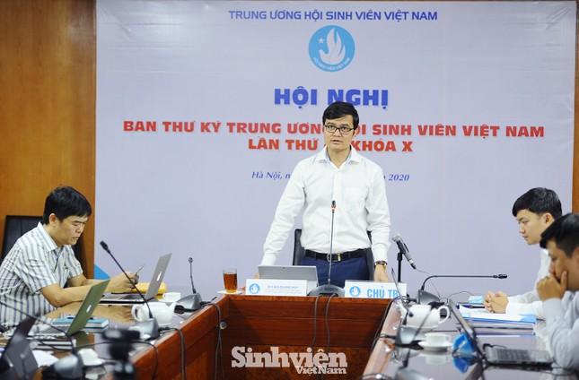 Hội nghị Ban Thư ký T.Ư Hội Sinh viên Việt Nam theo phương thức trực tuyến ảnh 1