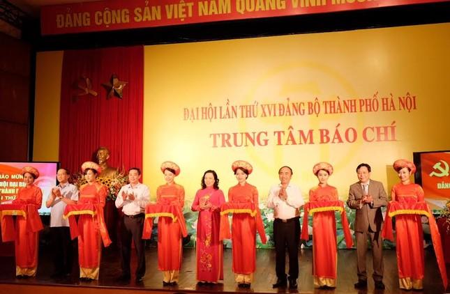 Khai trương Trung tâm báo chí phục vụ Đại hội Đảng bộ Hà Nội ảnh 1