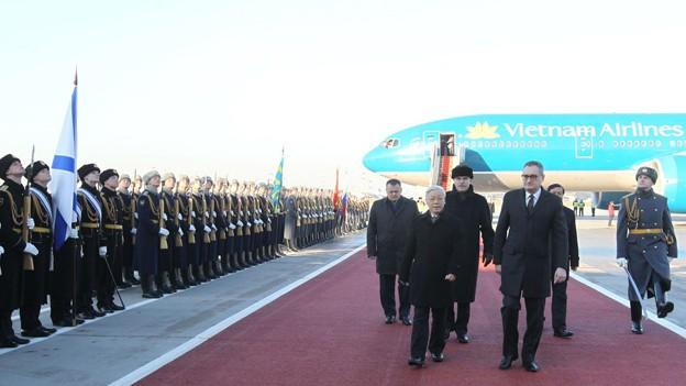 Tổng Bí thư Nguyễn Phú Trọng bắt đầu chuyến thăm Nga ảnh 1