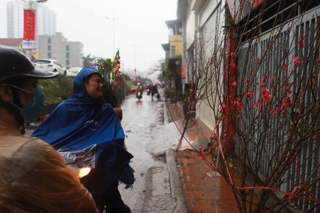Đào quất phá giá chiều 30 Tết, người Hà Nội đội mưa đi mua ảnh 6