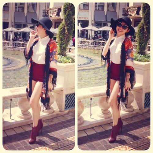 Áo khoác mùa hè sành điệu của sao Việt ảnh 4