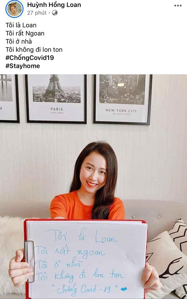 Sao Việt hào hứng theo trend 'ở nhà': 'Tôi là Tự Long, ở nhà cho nước nó trong' ảnh 6