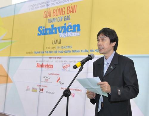 Khai mạc giải bóng bàn Cúp báo Sinh Viên Việt Nam lần III ảnh 1