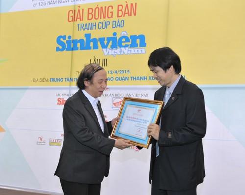 Khai mạc giải bóng bàn Cúp báo Sinh Viên Việt Nam lần III ảnh 2