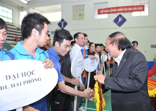 Khai mạc giải bóng bàn Cúp báo Sinh Viên Việt Nam lần III ảnh 3