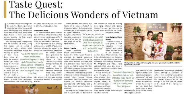 New York Times ca ngợi đầu bếp và ẩm thực Việt ảnh 1