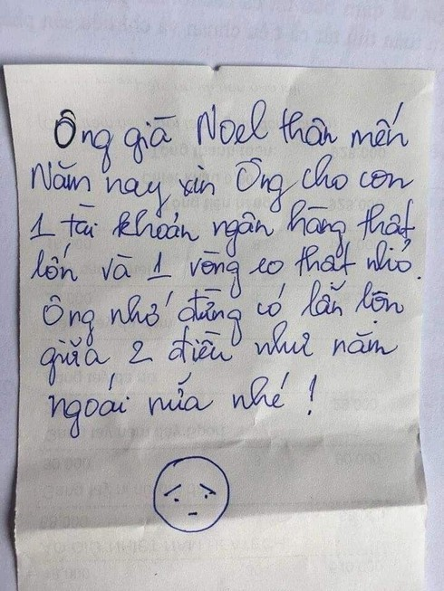 Ông già Noel 'chết ngất' khi nhận được tâm thư xin quà của các bạn nhỏ ảnh 2