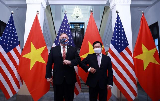Hình ảnh Phó Thủ tướng, Bộ trưởng Bộ Ngoại giao Phạm Bình Minh hội đàm Ngoại trưởng Hoa Kỳ ảnh 1