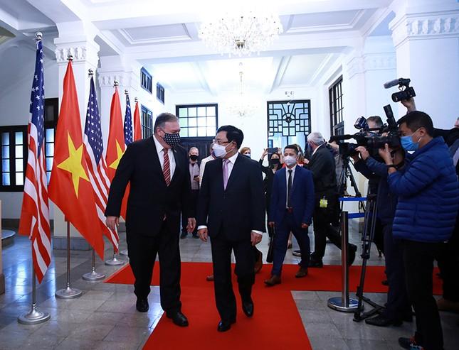 Hình ảnh Phó Thủ tướng, Bộ trưởng Bộ Ngoại giao Phạm Bình Minh hội đàm Ngoại trưởng Hoa Kỳ ảnh 2