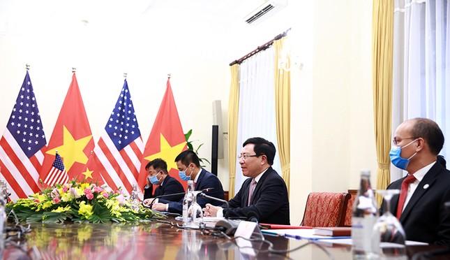 Hình ảnh Phó Thủ tướng, Bộ trưởng Bộ Ngoại giao Phạm Bình Minh hội đàm Ngoại trưởng Hoa Kỳ ảnh 3