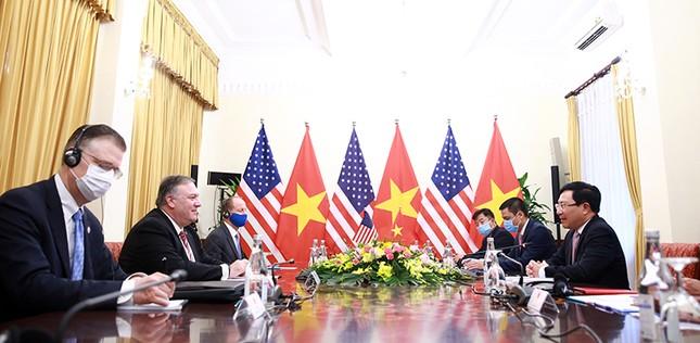 Hình ảnh Phó Thủ tướng, Bộ trưởng Bộ Ngoại giao Phạm Bình Minh hội đàm Ngoại trưởng Hoa Kỳ ảnh 4
