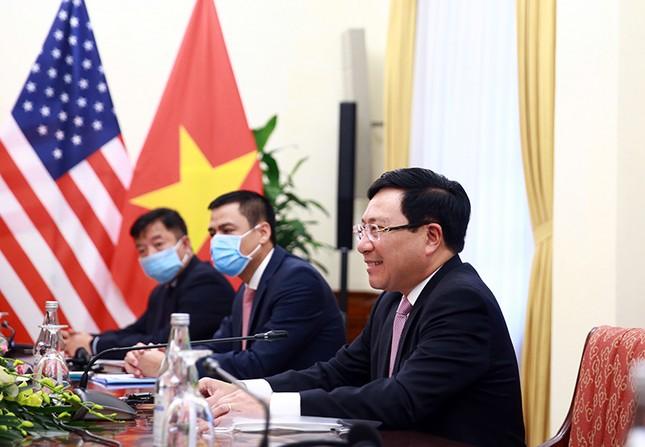 Hình ảnh Phó Thủ tướng, Bộ trưởng Bộ Ngoại giao Phạm Bình Minh hội đàm Ngoại trưởng Hoa Kỳ ảnh 6