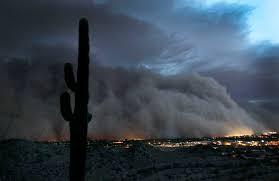 Cơn bão nào có đám bụi cát khổng lồ cuộn trên bầu trời cao đến 3.000m?